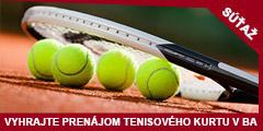 Súťaž o prenájom tenisového kurtu v Apollo tenisovej akadémii v Bratislave